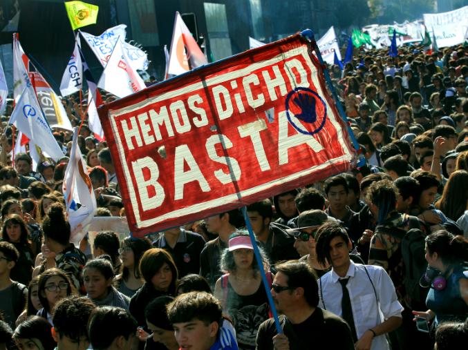 Foto: Marcha por la educación, 2011.