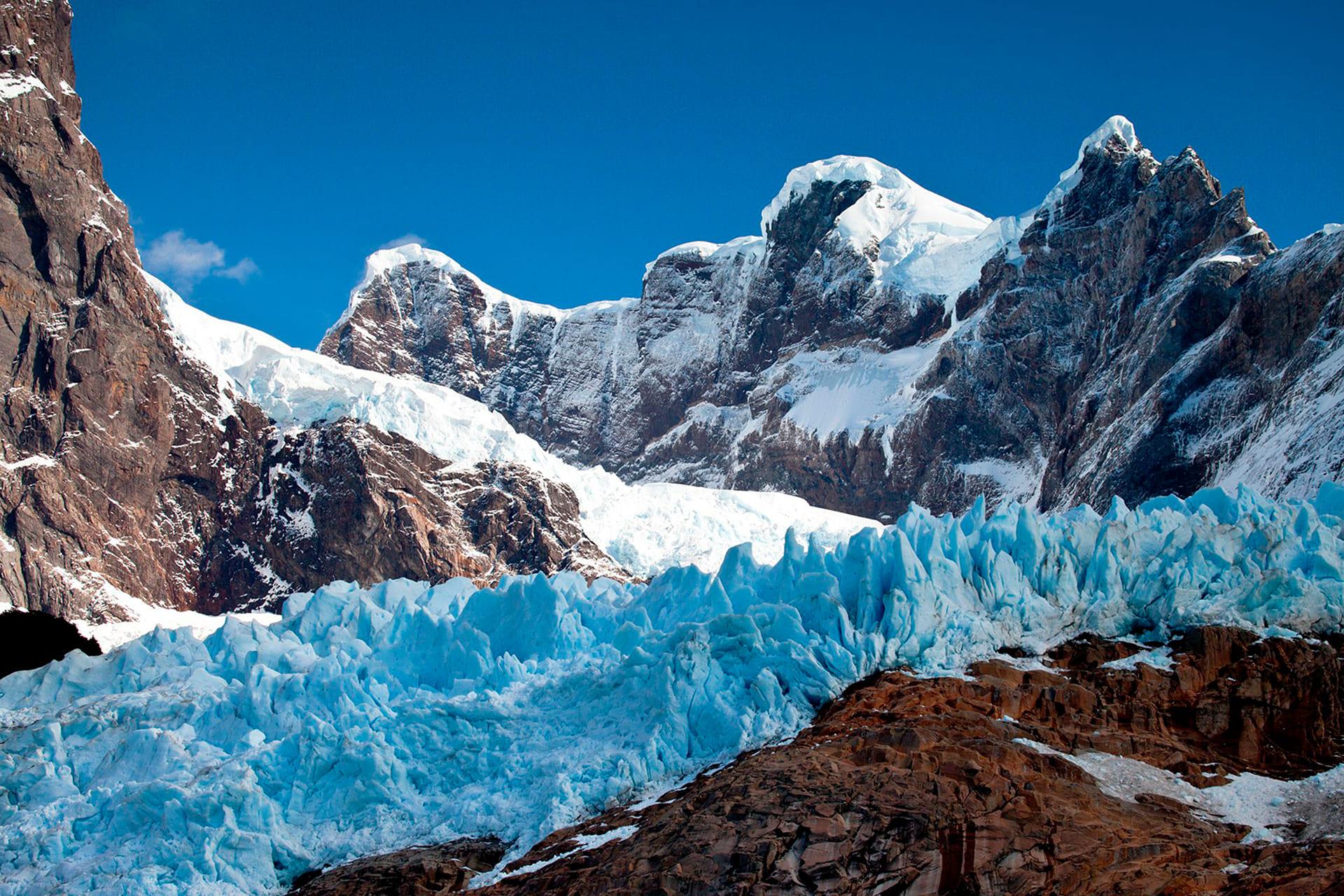 Foto: Retroceso del glaciar Grey, Parque Nacional Torres del Paine. Crédito Michael Matti.
