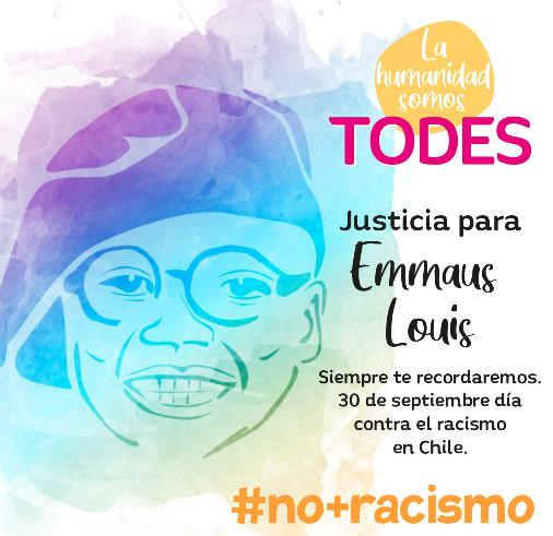 Campaña «La humanidad somos todes» de la Cátedra de Racismos y Migraciones Contemporáneas de la Universidad de Chile.