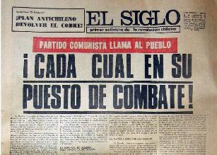 Diario El Siglo, 1973