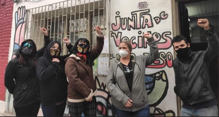 Foto: Junta de Vecinos El Progreso. Al centro, Valeria Bustos Arriagada.