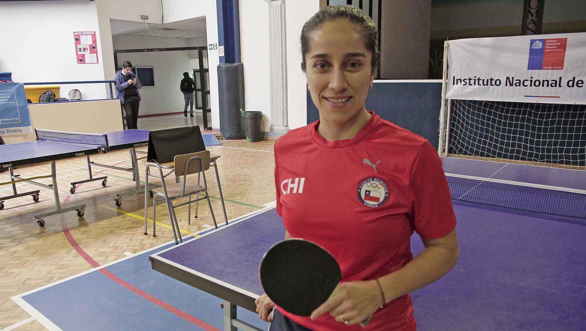 Paulina Vega, tenimesista chilena oriunda de San Pedro de la Paz.