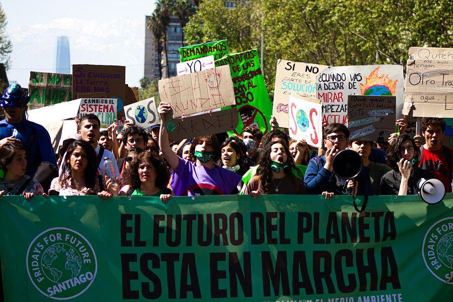 Fridays For Future en Santiago (Foto: Agencia Uno)